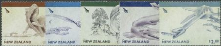 NZ SG3193-7 Dinosaurs of New Zealand set of 5